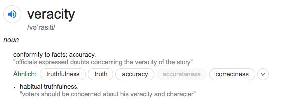 Veracity Definition
